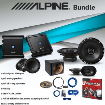 Alpine MRV-F300 Amplifier & S-S65 6.5-inch 2-Way Speaker & S-S69 S-Series 6