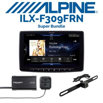 Alpine iLX-F309FRN & iBeam TE-BPLTC Backup Camera & SiriusXM SXV300V1 Tuner (BUNDLE PACKAGE)