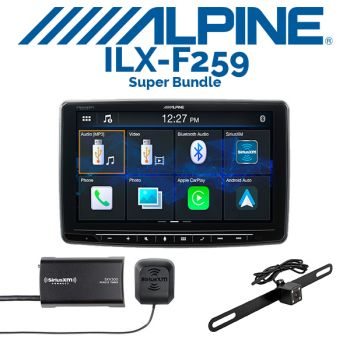 Alpine iLX-F259 Digital multimedia receiver & iBeam TE-BPLTC Backup Camera & SiriusXM SXV300V1 Tuner (BUNDLE PACKAGE)