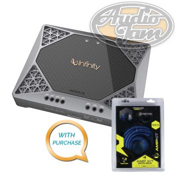Infinity REF-551A 1300W Peak Monoblock Amplifier + Raptor R2AK4 Amp Kit (BUNDLE PACKAGE)