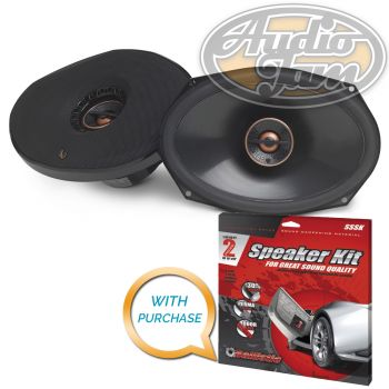 "Infinity Reference REF-9632ix 6"" x 9"" Two-way car audio speaker (REF9632) with Sound Deadening Kit"
