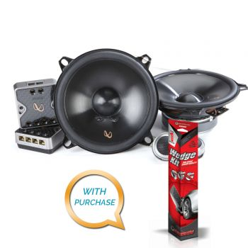 Infinity PR5010CS 5.1/4 (120mm) Two-way Component Speaker System + SSWEDGE Sound Deadening Kit (BUNDLE PACKAGE)