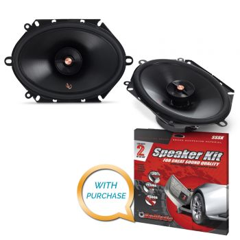 Infinity PR8612CF 6 x 8 Two-Way Multielement Speaker + Sound Deadening Kit (BUNDLE PACKAGE)