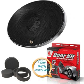 Infinity PR9610CS 6 x 9 Three-Way Component Speaker System with Sound Deadening Kit & Fast Ring