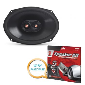 Infinity PR9613IS 6 x 9 Three-Way Component Speaker System + Sound Deadening Kit (BUNDLE PACKAGE)