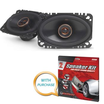 Infinity Reference REF-6432cfx 4x6 2-way car speakers (REF6432cfx) + Sound Deadening Kit (BUNDLE PACKAGE)