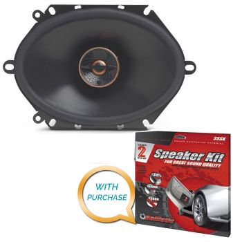 Infinity Reference REF-8632CFX - 6x8 Two-way car audio speaker (REF8632) with Metra SSSK Speaker Kit