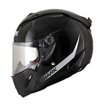 Shark Race-R Pro Carbon Skin Racing Division Motorcycle Helmet - Black / White - HE8677DDWK