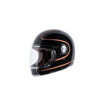 TORC T105COP24 T-1 Retro Full Face Helmet [Copper Pin Graphic] (Large)