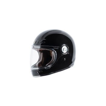 TORC T105:23 T-1 Retro Full Face Helmet [Gross Black Solid] (Medium)
