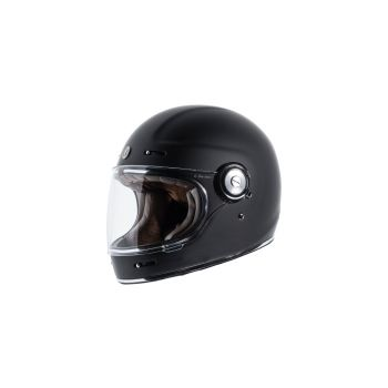TORC T115:22 T-1 Retro Full Face Helmet [Matte Black Solid] (Small)