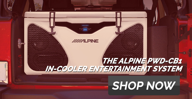 Alpine PWD‑CB1 Ice in Cooler Entertainment System